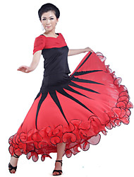 Ballroom Dance Skirts Women's Training Viscose As Picture Modern Dance Natural