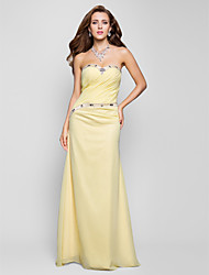 TS Couture® Prom / Formal Evening / Military Ball Dress - Open Back Plus Size / Petite Sheath / Column Sweetheart Sweep / Brush Train Chiffon with
