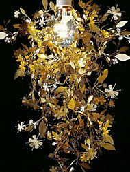 Nature 60W pendentif inspiré lumière avec Garland couronné Shade Acier inoxydable