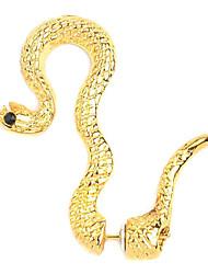 Banhado a ouro liga Serpente Padrão Brinco