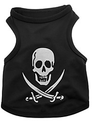 Dog Costume / Shirt / T-Shirt / Outfits Black Dog Clothes Summer Skulls / Hearts Cosplay / Halloween