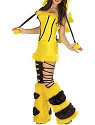 Costumes de Cosplay Costume de Soirée Animal Fête / Célébration Déguisement d'Halloween Jaune Couleur Pleine MosaïqueHaut Jupe Jambières
