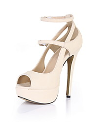 Specific Leatherette Stiletto Heel Pumps With Buckle Party/Evening Shoes