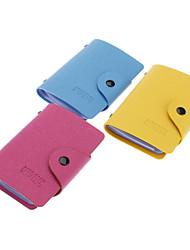 40 Slots PU Leather Credit Card Holder (Random Color)