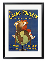 Framed Art Printt Vintage Cacao Poulain - Cappiello by Vintage Posters