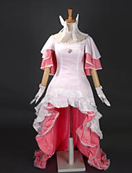 Inspired by Puella Magi Madoka Magica Madoka Kaname Anime Cosplay Costumes Cosplay Suits / Dresses Patchwork White SleevelessDress /