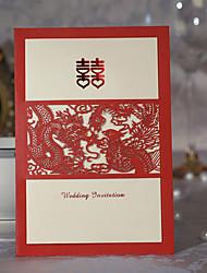 Dragon & Pheonix Cut-out Wedding Invitation (Set of 50)