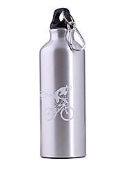 500ml bouteille de bicyclette d'alliage aluminium argenté