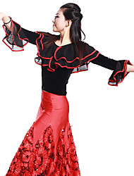 Ballroom Dance Tops Women's Training Viscose White Latin Dance