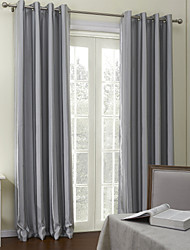 (One Panel) Contemporary Grey Stripes Room Darkening Curtain