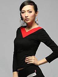 Dancewear Fashion Cotton Latin Dance Top for Ladies(More Colors)