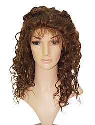 "Lace Front 100% Indian Human Hair 20"" Deep Curly Hair Wigs"
