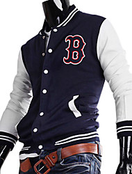 "Men's Cotton ""B"" Pattern Baseball Uniform(Blue)"