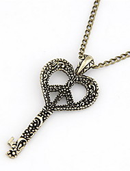 Cool Design Alloy With Key Shaped Pendant Women's Necklace
