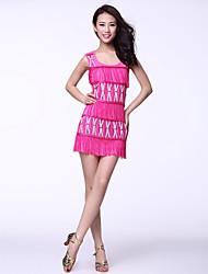 Tulle Vêtements avec des glands robe de danse latine pour les dames (plus de couleurs)