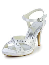 Great Satin Stiletto Heel Sandals with Rhinestone and Buckle Wedding/Special Occasion Shoes(More Colors)