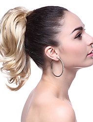 Haut Grade court synthétique Ponytail Wavy Blonde