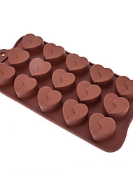 Amor em forma de Sugarcraft molde de silicone para doces / Cookie / Jelly / Chocolate