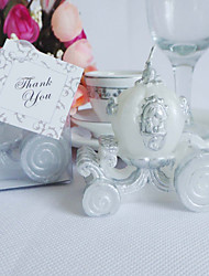 Pretty Carriage Shaped Candle Favor