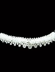 Moda lega d'argento placcato con strass Tiaras