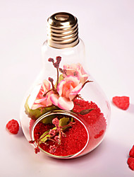 Creative Hanging Bulb Vase With The Artificial Flower And Sand (The Sand Holder Not Included)