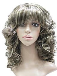Capless Synthetic Fiber Mixed Color Long Wavy Hair Wig
