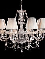 Lustre de Vidro do Palácio com 8 luzes