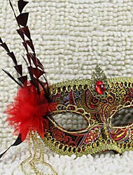 Deluxe Phoenix Feather masque de mardi gras