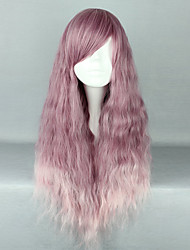 Lolita Wigs Sweet Lolita Color Gradient Long Purple Lolita Wig 70 CM Cosplay Wigs Wig For Women