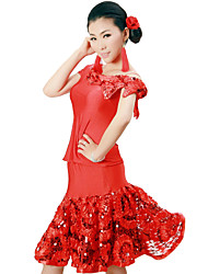 Dancewear Viscose With Sequins Latin Dance Outfits for Ladies(More Colors)