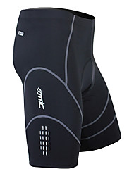 SANTIC Bike/Cycling Shorts / Bottoms Men's Breathable / Quick Dry / Wearable / 3D Pad Spandex / Nylon / Coolmax Solid BlackS / M / L / XL