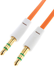 3.5mm Male to Male Audio Connection Cable Flat Type Orange (1.5m)