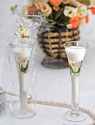 """Calla Lily"" Garden Glass Gel Candle Cup"
