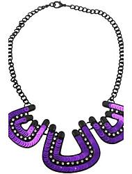 baoguang®shining блестка П-форма сплава ожерелье (ассорти цветов)