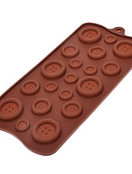 Fastener Shaped Sugarcraft molde de silicone para doces / Cookie / Jelly / Chocolate