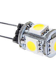 G4 5 SMD 5050 75 LM Natural White LED Corn Lights DC 12 V