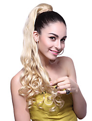 High Quality Synthetic Long Wavy Blonde Ponytail
