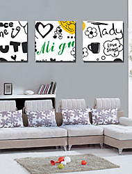 Stretched Canvas Art Words Dance Time Set of 3