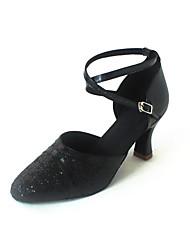 Customized Women's PU / Paillette Upper Dance Shoes