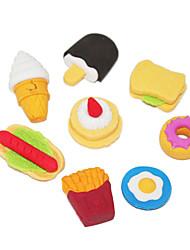 Cartonn Cute Fast Food Pattern Eraser(4PCS,Random Shapes)