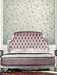 Floral Wallpaper Country Wall Covering,Non-woven Paper Yes
