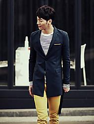 mode coréenne d 'hommes adapté manteau col