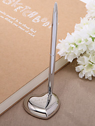 Personalized Zinc Alloy Wedding Pen Set Sign In Book