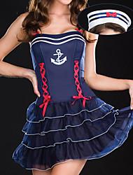 Sweet Girl Dark Blue Terylene Fardas Naval (2 peças)