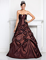A-Line Ball Gown Strapless Sweetheart Floor Length Taffeta Quinceanera Dress with Crystal by TS Couture®