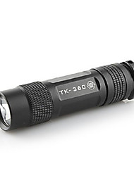 Tank007 TK-360 Cree 7090 XR-E Q4 5 Mode LED Flashlight (1 x CR123A Battery)