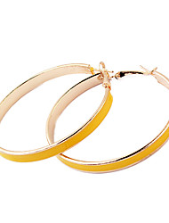 Gold Plated Alloy Circle Pattern Earrings(Assorted Colors)