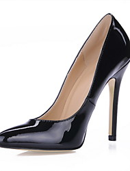 Black Patent Leather Stiletto Heel Pointed Toe Pumps Women's Shoes Party / Evening Shoes Office Shoes