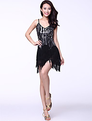 Dancewear Cotton And Tassels With Sequins Latin Dance Dress for Ladies(More Colors)