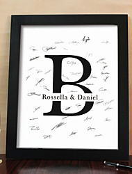 Personalized Signature Canvas Frame - Initial (Includes Frame)